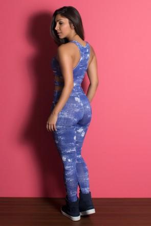 Macacão Jeans  com Detalhe Lateral | Ref: KS-F1704-001
