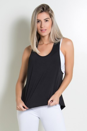 Camiseta de Microlight Lisa (Preto) | Ref: KS-F764-003