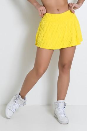 Short Saia Isabelle Tecido Bolha (Amarelo) | Ref: KS-F265-008