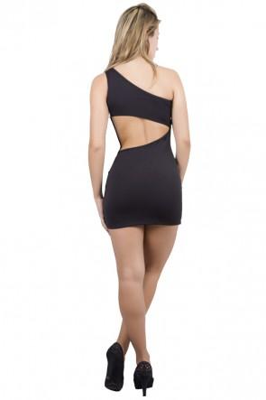 Vestido de 1 Ombro com Bolso | R56