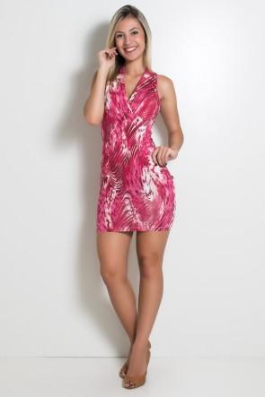 Vestido Estampado Marina com Cintura Aberta | R58