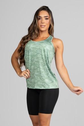 Regata Fitness Estampa Digital Camouflaged Green | Ref: GO204-B
