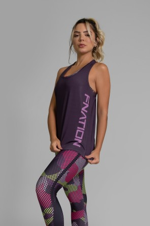 Regata Fitness Estampa Digital Purple Screen | Ref: GO364