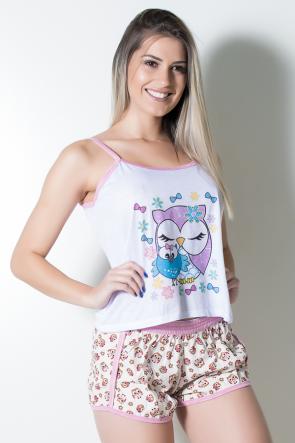 Babydoll de malha 102 (Rosa Coruja) | Ref: CEZ-PA102-011