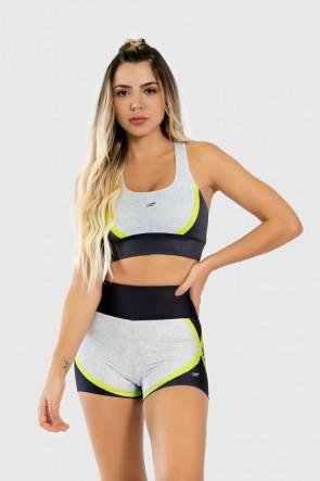 Short Fitness Estampa Digital Yellow Strings | Ref: GO266
