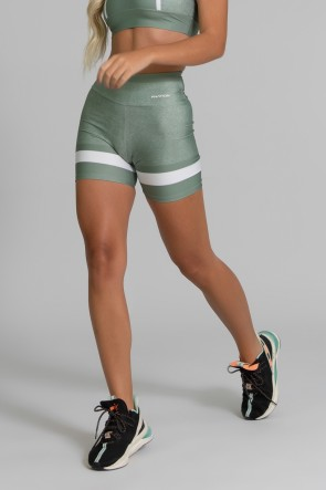 Short Fitness Meia Perna Estampa Digital Green Army | Ref: GO391