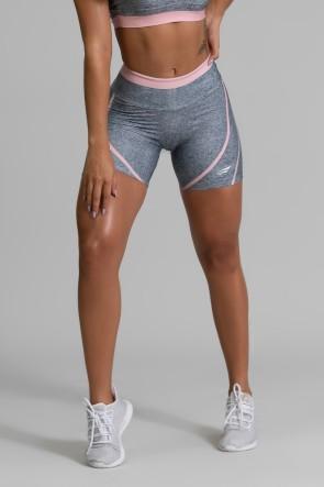 Short Fitness Meia Perna Estampa Digital Pink Fusion | Ref: GO346