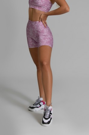 Short Fitness Meia Perna Estampa Digital Smooth Wine | Ref: GO373