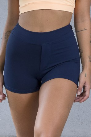Short Liso Cós Baixo | Poliamida Excelente! | (Azul Marinho) | Ref: KS-PL56-001