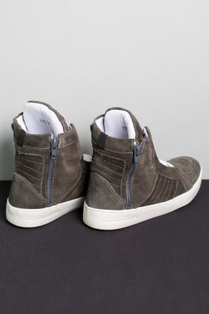 Tênis Sneaker Camurça com Fecho (Cinza Escuro) | Ref: KS-T54-001