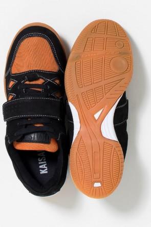 Tênis Crossfit Masculino com Velcro e Cadarço (Preto / Laranja) | Ref: KS-T56-003