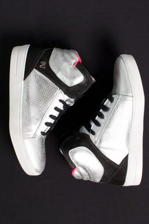 Sneakers Couro Metalico (Prata / Preto) | Ref: KS-T57-001