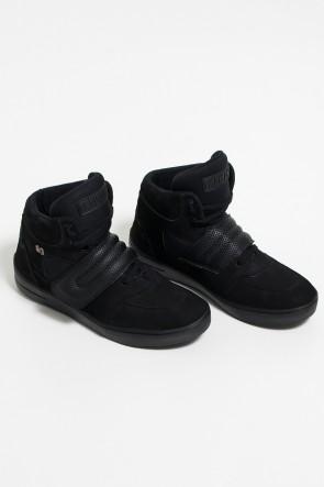 Sneakers Nobuck Cano Médio com Velcro (Preto) | Ref: KS-T59-001