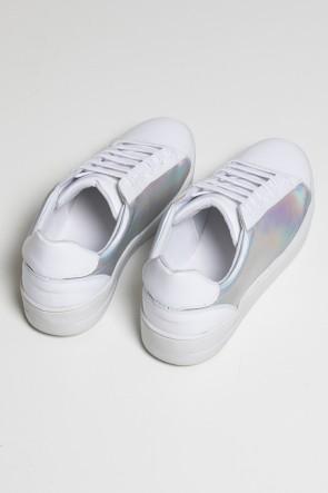 Tênis Confort Holográfico (Branco / Prata) 783-02 | Ref: KS-T83-001