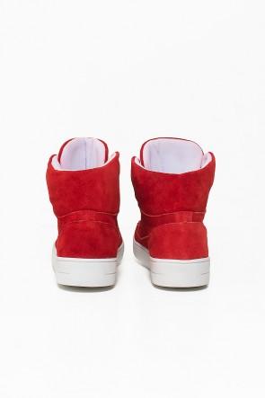 Tênis Sneaker Camurça (Vermelho) | Ref: KS-T52-005