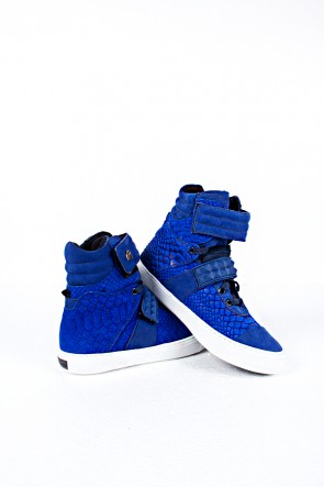 Tênis Slim Nobuck Escama Azul | Ref: T03
