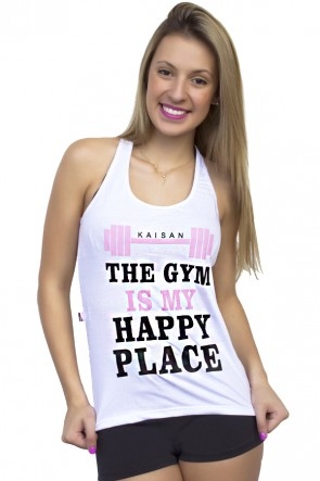 Camiseta de Malha Nadador (The gym is my happy place) | Ref: KS-F318