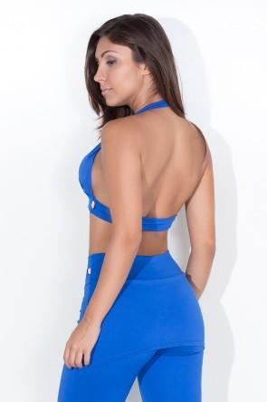Top Diana Liso com Bojo (Azul Royal) | Ref: KS-F314-007