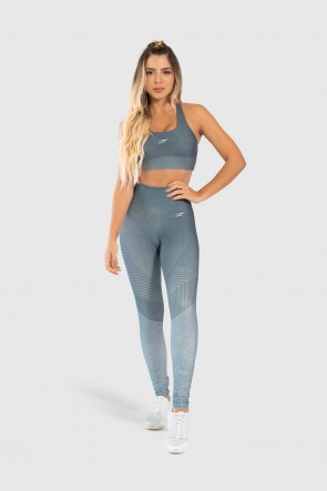 Top Nadador Fitness Estampa Digital Gray Chevron | Ref: GO241