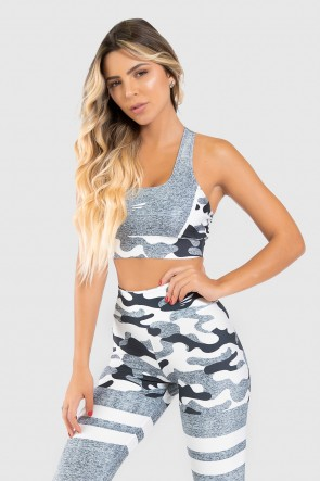 Top Nadador Fitness Estampa Digital Militar Line | Ref: GO315