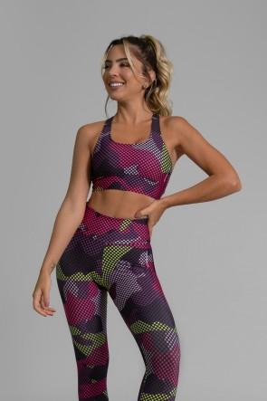 Top Nadador Fitness Estampa Digital Purple Screen | Ref: GO362