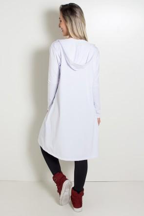 Maxi Casaco de Microlight (Branco) | KS-F1853-002