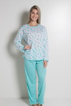 Pijama Longo 075 (Verde Piscina)