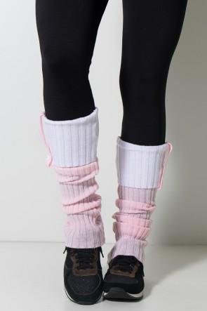 Polaina de Lã Duas Cores (Rosa Claro/Branco) | Ref: WES002-027/002