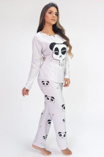 Pijama de Manga Longa Raglan Estampa Digital (Panda)   Ref: K2808