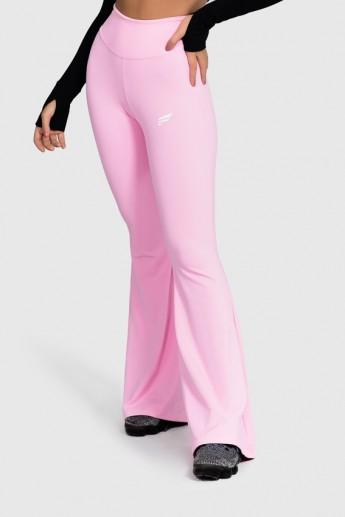 Calça Flare Fitness Básica (Rosa Bebê)   Ref: GO4-G