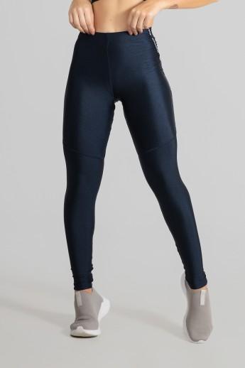 Calça Legging Tecido Platinado com Chapado (Azul Marinho) | Ref: GO468-D