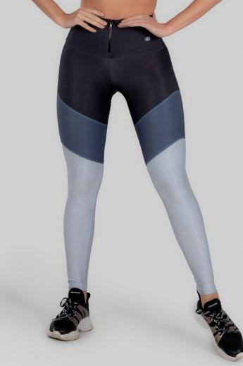 Calça Legging Estampa Digital com Zíper no Cós (Classic Marine) | Ref: K3001-A