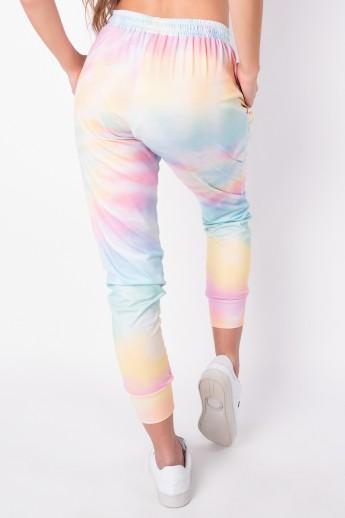 Calça Jogger Estampa Digital Tie Dye (Arco-Íris Claro) | Ref: K2826-C