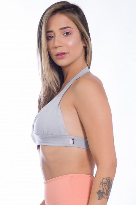 Top de Malha Isadora (Cinza)   Ref: F1005-004