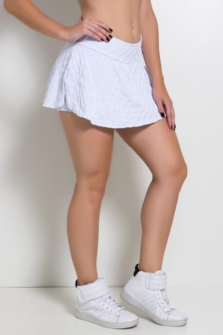 Short Saia Isabelle Tecido Bolha (Branco)   Ref: F265-011