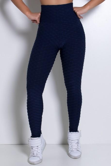 Calça Legging Tecido Bolha (Azul Marinho) | Ref: KS-F103-009
