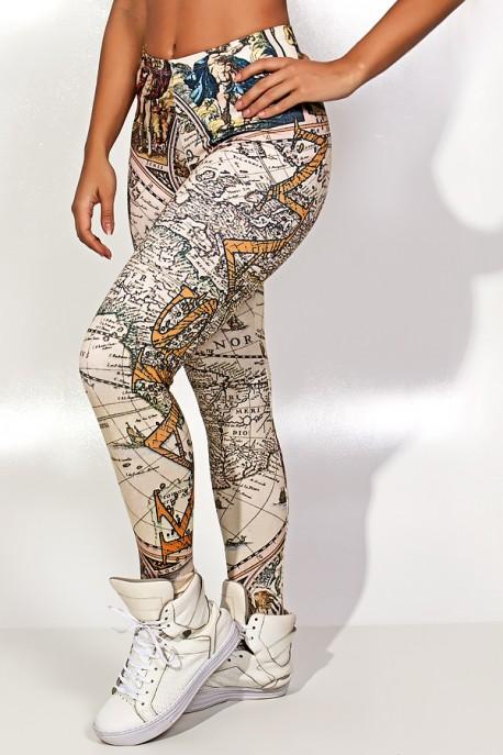 Legging Geography Sublimada | Ref: KS-F1827-001