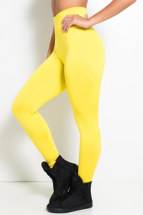 Legging Cós Alto Amarela | Ref: KS-F23-011