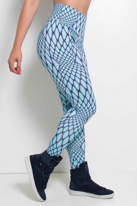 Legging Estampada (Escama Azul)  | Ref: KS-F27-118
