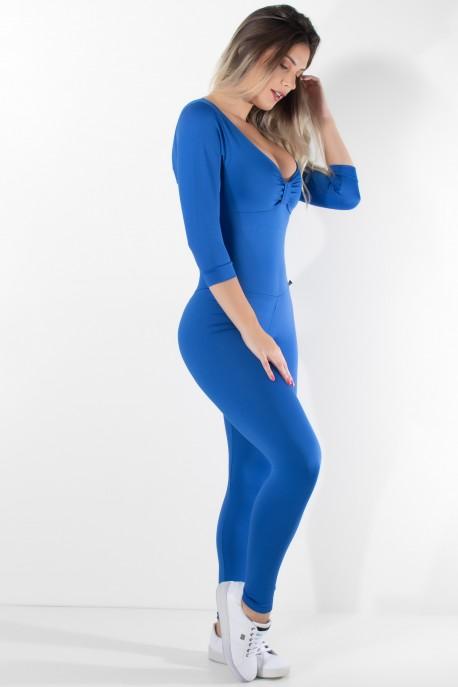Macacão Laços Liso (Azul Royal) | Ref: KS-F337-002