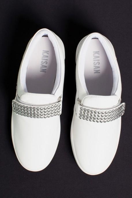 Tênis Mini Sneaker com Velcro (Branco)   Ref: KS-T41