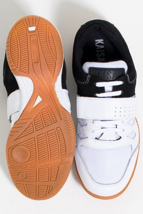 Tênis Crossfit Masculino com Velcro e Cadarço (Preto / Branco)   Ref: KS-T56-001