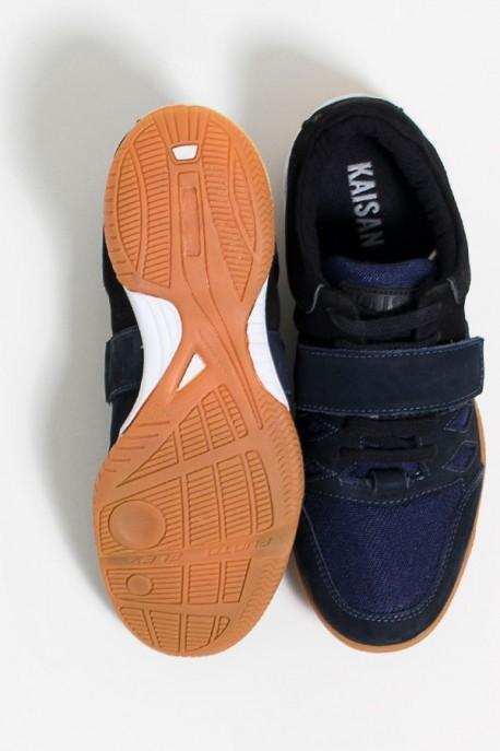 Tênis Crossfit Masculino com Velcro e Cadarço (Preto / Azul Marinho)   Ref: KS-T56-002