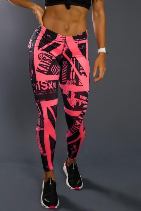 Legging Sublimada PRO (Britanic Rosa Neon) | Ref: NTSP13-001