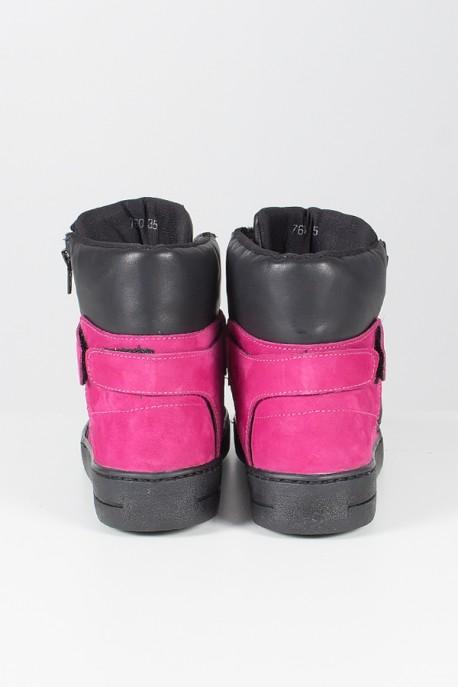Sneaker Preto com Rosa Pink   Ref: T37