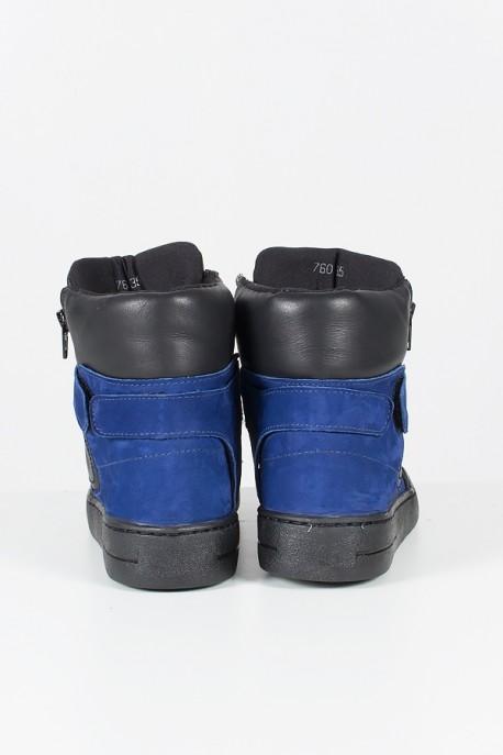 Sneaker Unissex Preto com Azul   Ref: T39