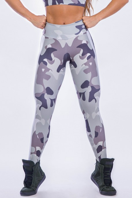 Calça Legging Sublimada Shades of Gray Camo | Ref: K2299-A