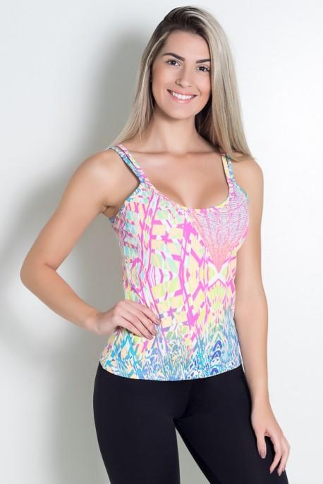 KS-F240-004_Camiseta_Estampada_Hanna_Amarelo_com_Tracos_Azul_Rosa_e_Verde__Ref:_KS-F240-004