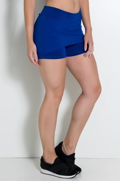 Short Saia Tapa Bumbum Liso (Azul Royal) | Ref: KS-F71-003