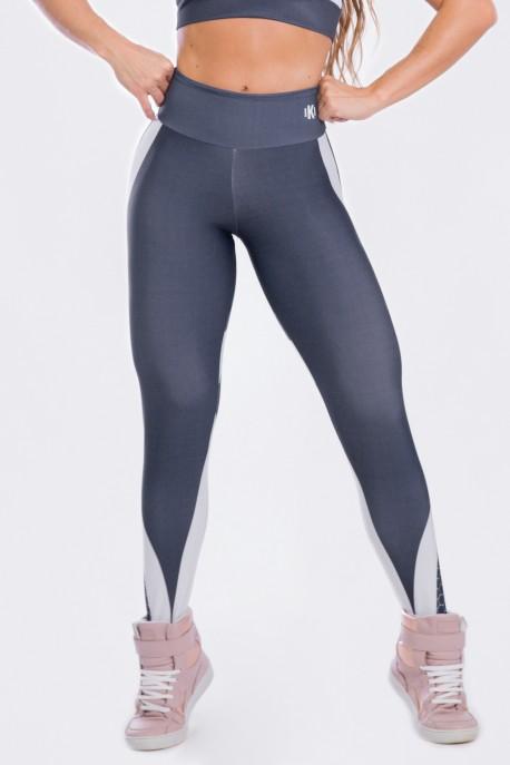 Calça Legging Sublimada Gray Honeycomb | Ref: K2473-A